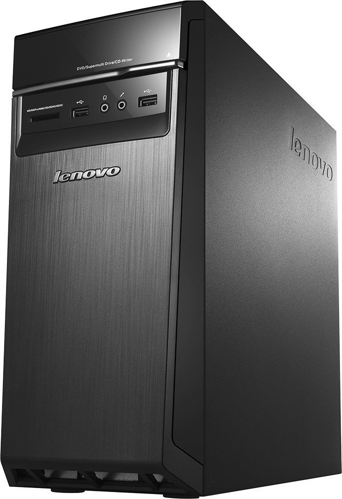 2016 Lenovo H50 Premium Desktop- AMD Quad-Core FX Processor 3.6GHz, 16GB Memory, 2TB 7200rpm HDD, 2GB AMD Radeon R7 350 graphics, DVD±RW, 802.11ac, Bluetooth, HDMI+VGA, Windows 10