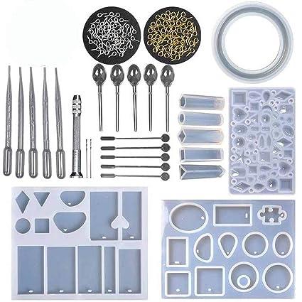 KKmoon Kit de moldes de resina hecha a mano bricolaje molde de silicona que hace la