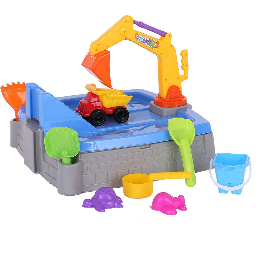 Children's Summer Beach Big Excavator Sandbox Fun and Cool Beach Toy Tools Multifunctional Play Sand Play Water Games Children's Educational Toys