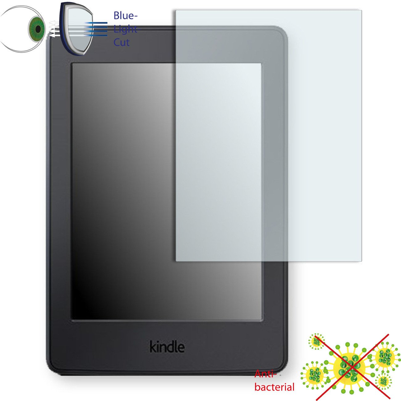 1 x DISAGU ClearScreen screen protection film for  Kindle Paperwhite antibacterial, BlueLight filter protective film #dh4116