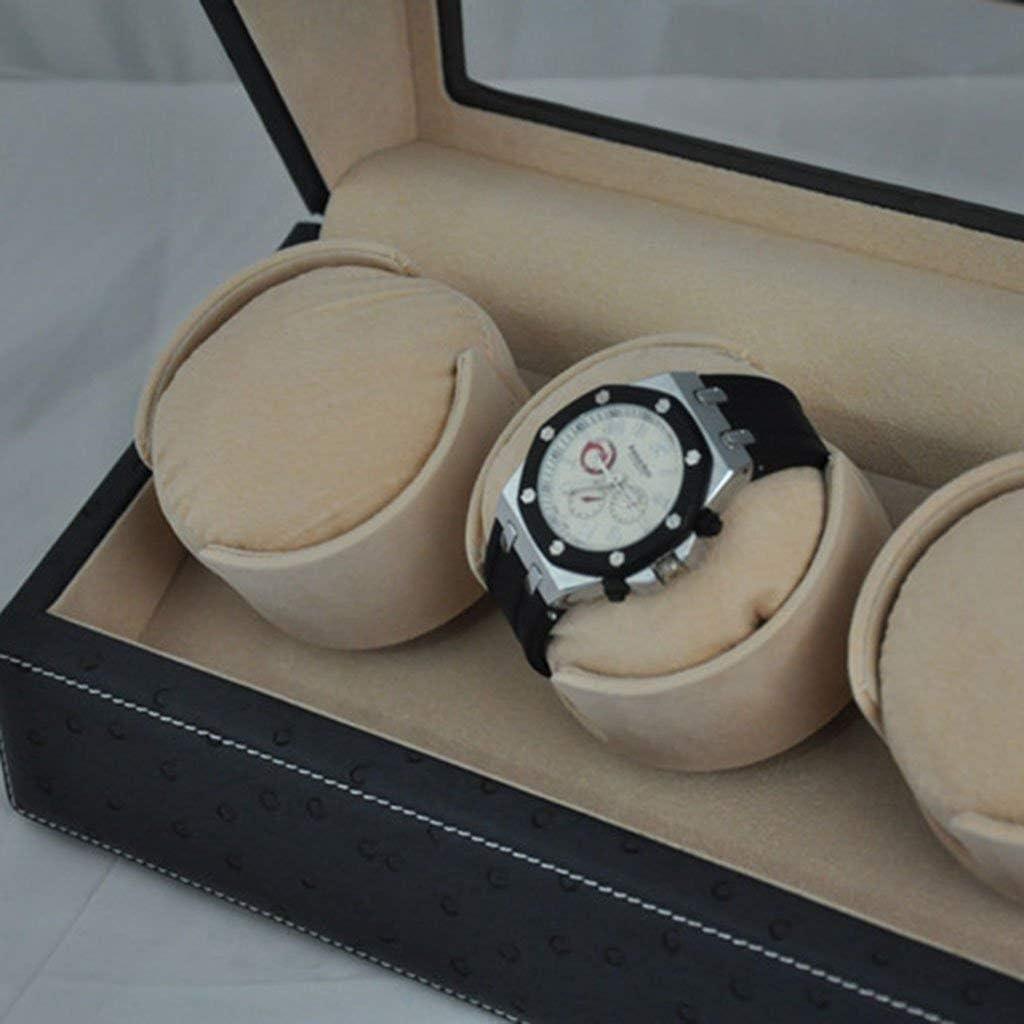 WEI時計ディスプレイボックス ウォッチワインダーボックスワインダー腕時計3 + 0機械式時計自動ウォッチボックス機械式時計は、ボックスウォッチワインダーワインディング