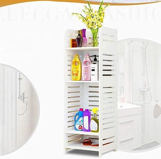 LOHOX Mueble Columna de Baño Estantería de Esquina de Ducha ...