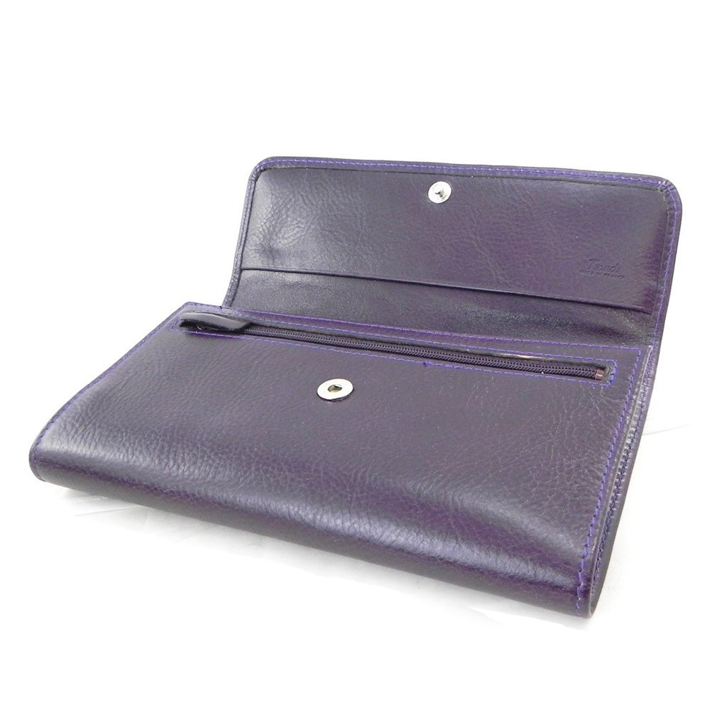 Frandi I8723 - Tarjetero y chequera europea cuir púrpura york écologique.: Amazon.es: Zapatos y complementos
