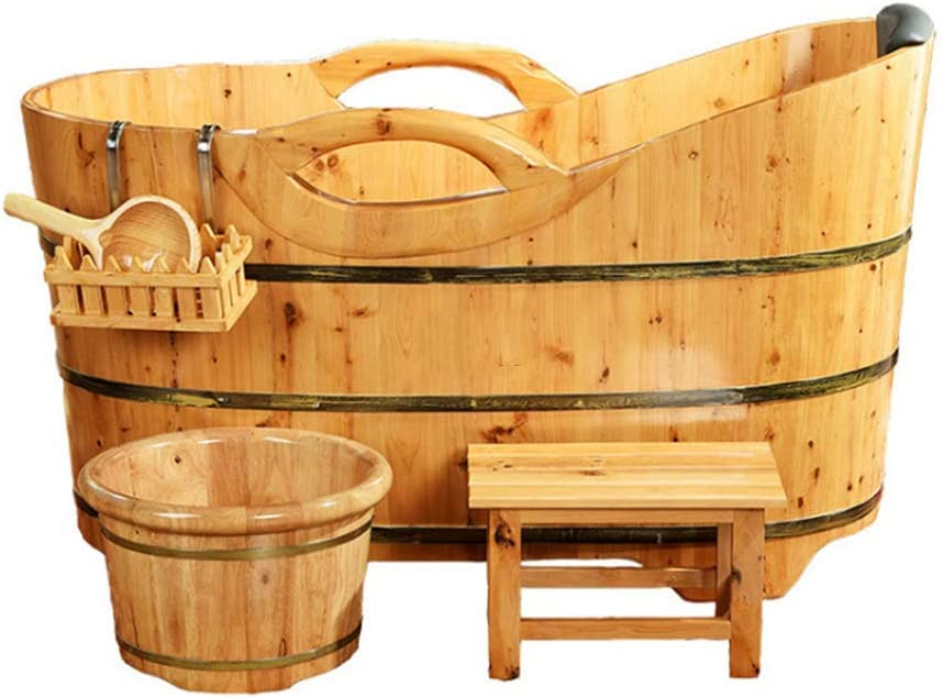 60 78cm,100cm LLDKA Bad Sauna Holz Barrel Badewanne Sauna Hotel Hot Spring Erwachsene Bath Barrel Massivholz-140