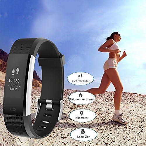 Brazalete de fitness con pulsómetro, fitness tracker ...