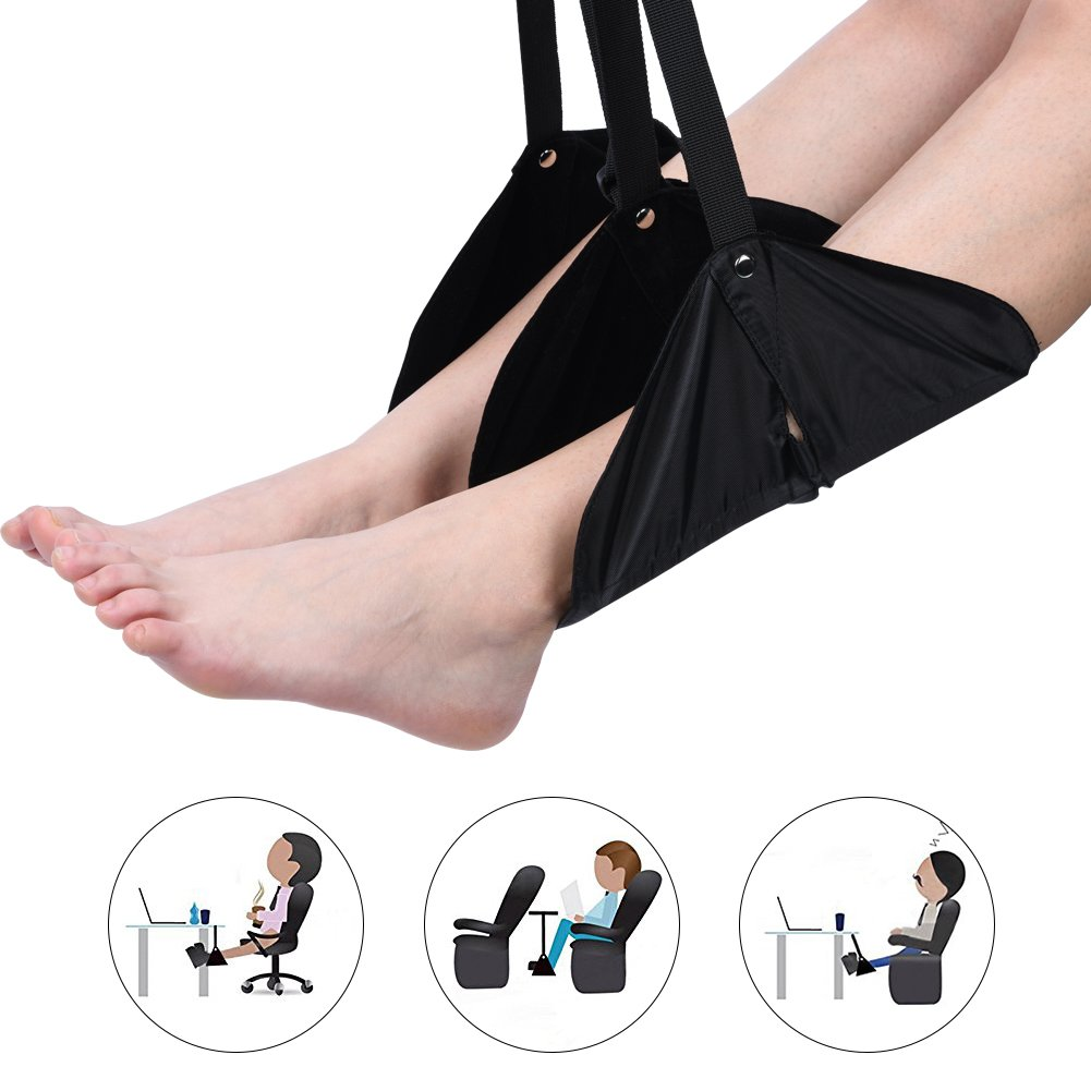 Fu/ßst/ütze Flug Carry-On Fu/ßst/ütze Verstellbare Fu/ß H/ängematte f/ür Home Office Kampf Trip Relax Feet Travel Zubeh/ör
