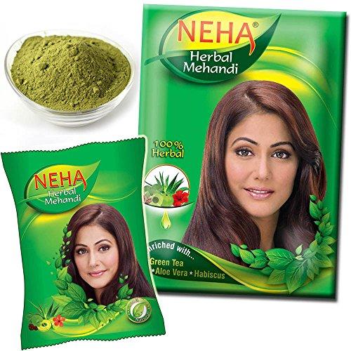 Neha Herbal Mehandi Powder for Hair - 100% Herbal Base | Enriched with Green Tea, Aloe Vera, Habiscus | 500 g