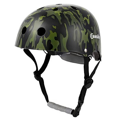Casulo Dual Certified Bike and Skateboard Helmet - for Kids, Youth & Adults Cycling Skateboarding Scooter Roller Skate Inline Skating Rollerblading Longboard : Sports & Outdoors