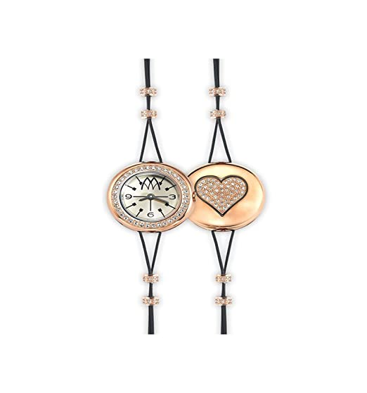 Reloj marco mavilla Pepito Reversible Corazón Gold y purpurina prc02rg: Amazon.es: Relojes
