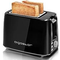 Aigostar Warrior 30JRL – Grille-pain 2 fentes extra-larges et 7 niveaux de brunissage. Fonctions toaster, décongeler, réchauffer et annuler. 750W, 0% BPA. Design exclusif.