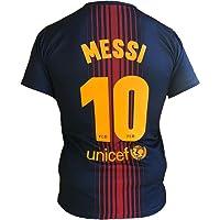 Barcellona Maglia Lionel Messi 10 Replica Autorizzata 2017-2018 Bambino-Ragazzo (Taglie-Anni 2 4 6 8 10 12 14) Adulto (S M L XL)