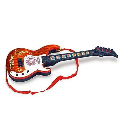 Jouets de Guitare, Lommer 4 String Musique Guitare Jouet Simulation Mignon Enfants Instruments de Musique Jouet Éducatif