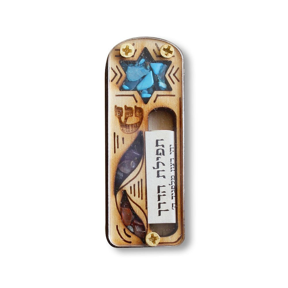Yourholylandstore Star of David Car Mezuzah with Scroll by YourHolyLandStore mz02012