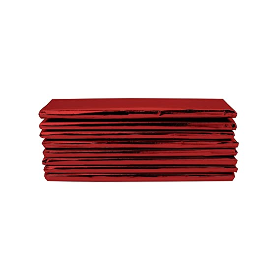 Pack of 100 Foilman Foil Red 6 x 7.5 Candy Bar Wrappers Red