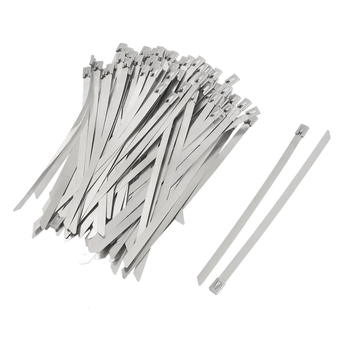 100 Piece Uxcell PVC Sprayed Self Locking Cable Pipe Ties//Hoops 8 x 200 mm