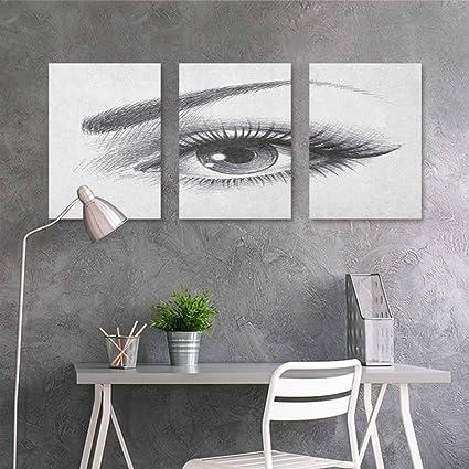 Amazon Com Homedd Oil Painting Modern Wall Art Posters Eye Pencil