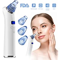 Blackhead and Acne Remover Vacuum, COOFO Rechargeable Electronic Facial Pore Cleaner Extractor Tool Beauty Machine with 5 Adjustable Suction Levels