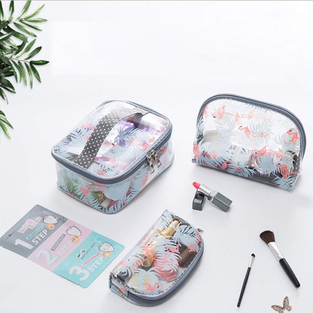 Amazon.com: Bolso de maquillaje transparente Flamingo ...