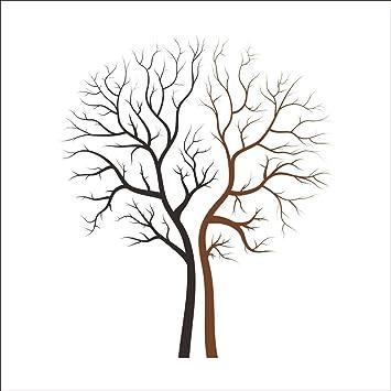 Rainbow Fox Wandaufkleber, Großer Abnehmbarer Zwillingsbaum ... Deko Baum Wand