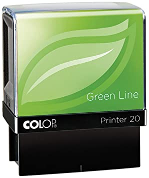 COLOP P20GLSCA 38 x 13 mm GreenLine SCANNED Stamp - Red
