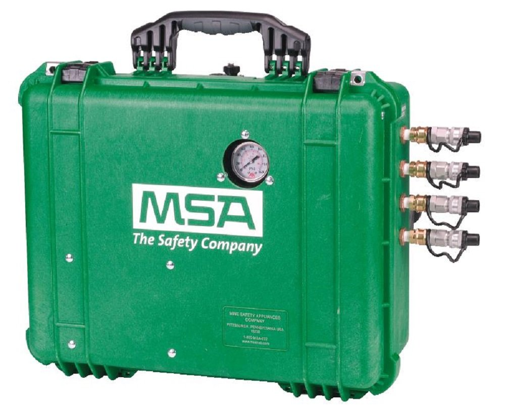 MSA Safety 10113348 50 CFM Filtration Box Four-Outlet with Foster Steel Quick Disconnects and Carbon Monoxide Monitor by MSA (Image #1)
