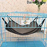 Chige Multifunction Comfortable Cute Animal Hammock Sleep Bed Pad Hanging Pet Cage for Cats,Rabbit,Rat,Small Dogs,Pack of 1pc,4 Optional Color (Dark gray)