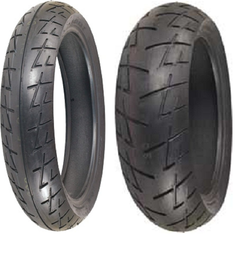Shinko Raven 009 set 120/70zr17 Front & 190/50zr17 rear 190 50 17 120 70 17 2 Tire Set 87-4041-87-4048