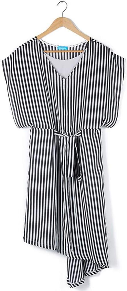 Vestidos Ropa premamá Lactancia Falda Irregular Manga Corta Mujeres Embarazadas Ropa para el hogar Regalo del día de la Madre Oficina (Color : Gray, Size : L)
