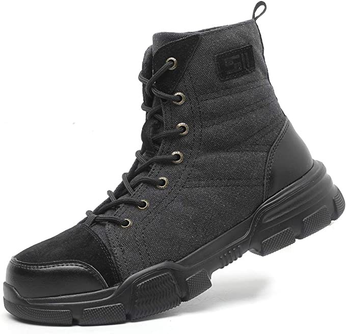 Dxyap S1P Botas de Seguridad, Hombre con Puntera de Acero Zapatillas de Seguridad Trabajo, Calzado de Industrial y Deportiva: Amazon.es: Zapatos y complementos