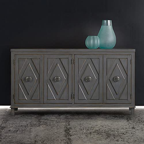 Hooker Furniture Melange Raellen Console Table in Gray