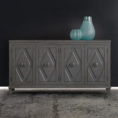 Hooker Furniture Melange Raellen Console Table in Gray