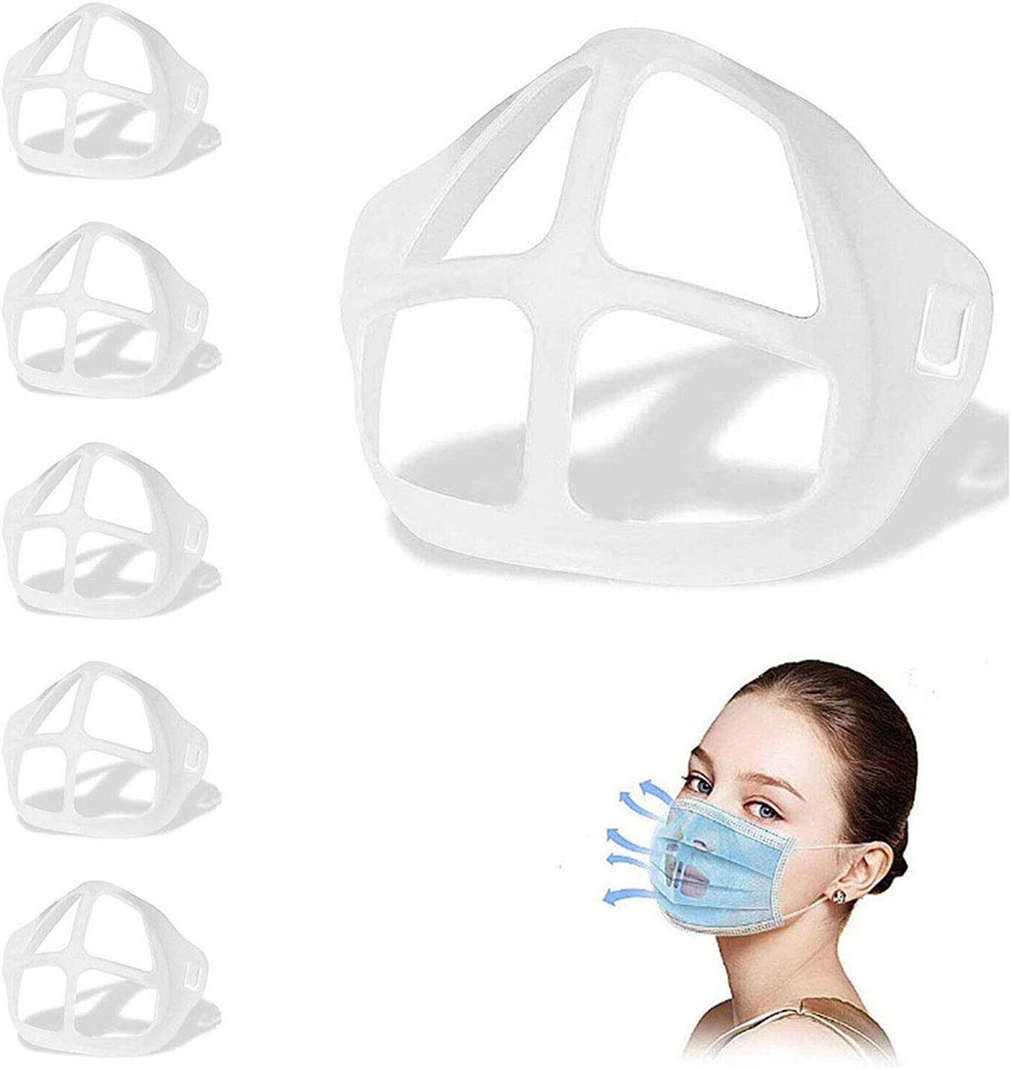 5 PCS Comfortable Breathing Brackets 3d Breathing Bracket Mouth Inner Support Frame Nose Breathing Space