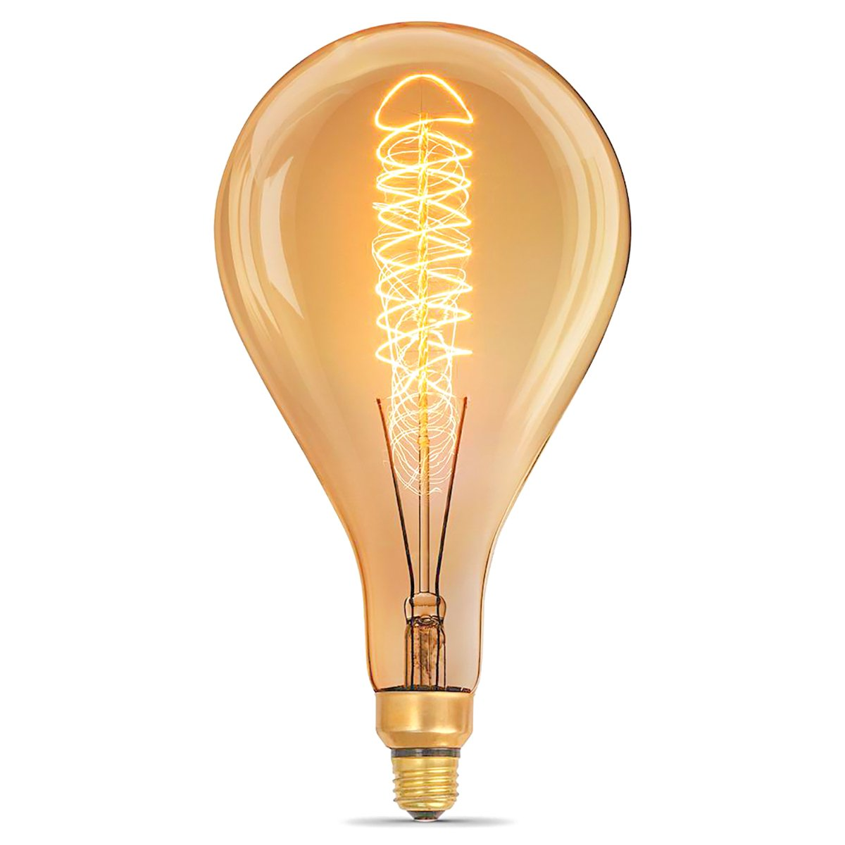 Jslinter Oversized Edison Bulb, Spiral Filament Vintage Decorative Pear Light Bulbs, PS52 Dimmable with E26 Base