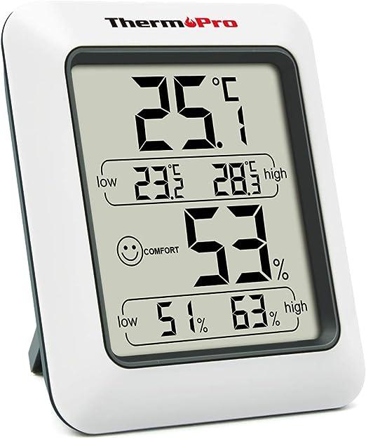 Amazon.co.jp: ThermoPro湿度計 デジタル温湿度計 室内温度計湿度計 おしゃれ 最高最低温湿度表示 TP50: ホーム&キッチン