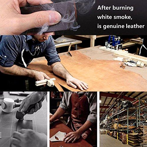 Dubulle Mens Italian Genuine Leather Belt with Removable Buckle Adjustable Automatic Buckle Belt Black Ratchet Belt for Men (DK-1004, waist size 42'' to 47'', belt 55''(140cm)) by Dubulle (Image #5)