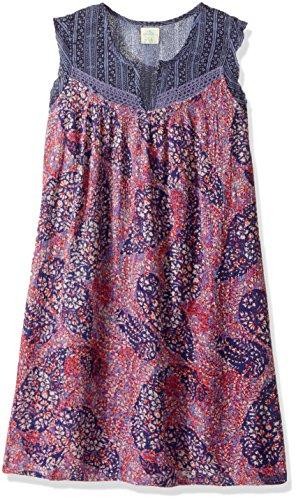 mixed print dress - 3