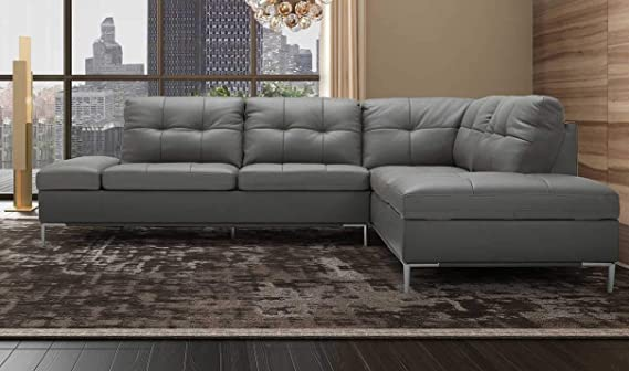 Amazon.com: Leonardo Premium Right Hand Facing Sectional ...