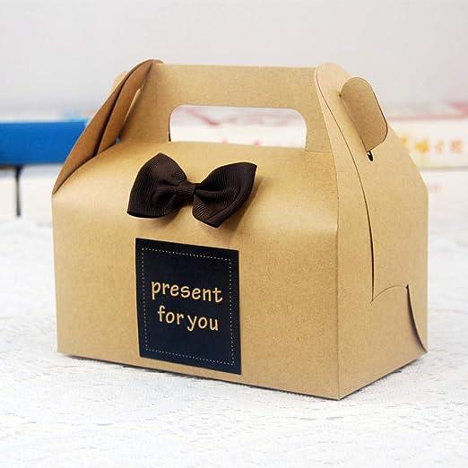 Cajas de panadería, 15 unidades, caja de papel de estraza portátil ...