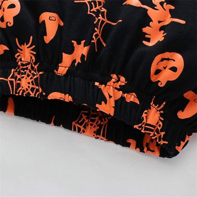 XOXO Precioso Pijamas Niños Happy Halloween Ghost Pijamas Niños Pantalones de Manga Larga Set (tamaño : 3T): Amazon.es: Hogar