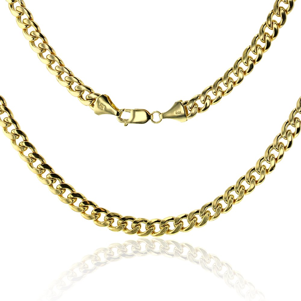 14K Yellow Gold 7.00mm 24'' Miami Cuban 180 Link Chain
