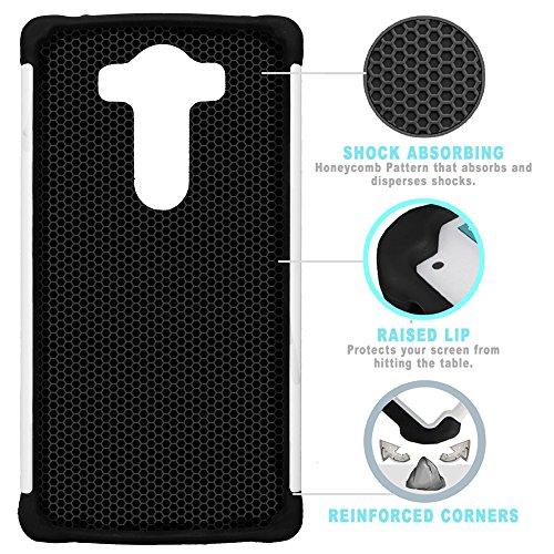 STPlus Gato en una caja Animal Doble Capa de Protección Rígido + Flexible Silicona Carcasa Funda Para LG V10 #13