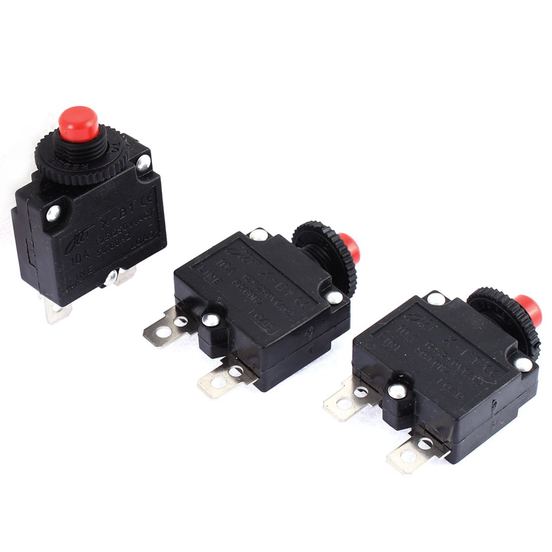 uxcell 5Pcs Thermal Overload Protector AC 125//250V 7A Push Button Reset Circuit Breaker