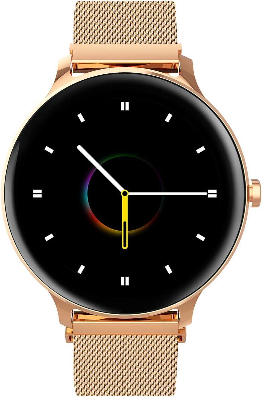 Blackview Reloj Inteligente Mujer Correa Metalica,X2 smartwatch de con monitoreo de frecuencia cardíaca/sueño,Seguimiento de Actividad física, 5 ATM Reloj Impermeable para Hombre(Dorado)