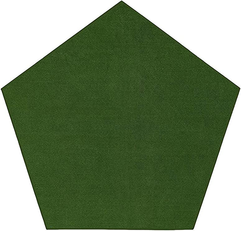 Outdoor Green Area Rugs 3 Pentagon For Patio Porch Deck Boat Basement Garage Party Event Wedding Tents And More With A Low Pile Height Amazon Co Uk Kitchen Home