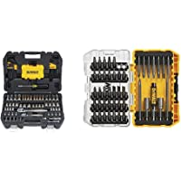 $77 » DEWALT Mechanics Tools Kit and Socket Set, 108-Piece (DWMT73801) & Screwdriver Bit Set with…