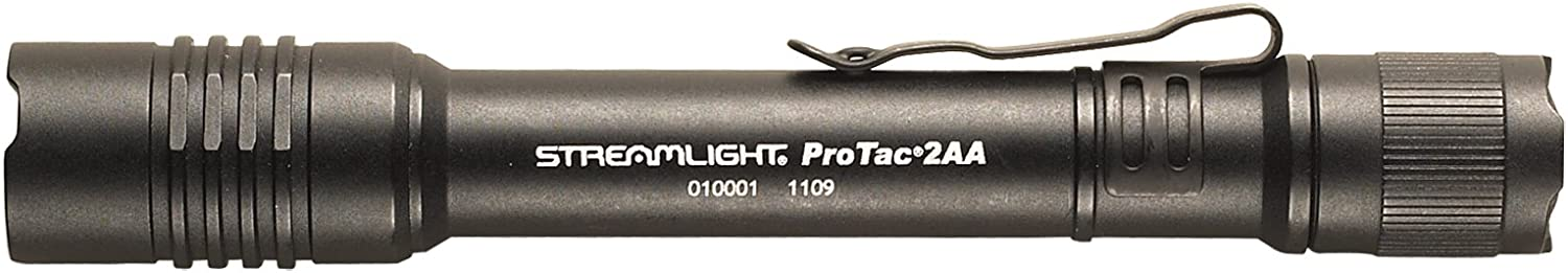 Image of a Streamlight Protac flashlight, color black.