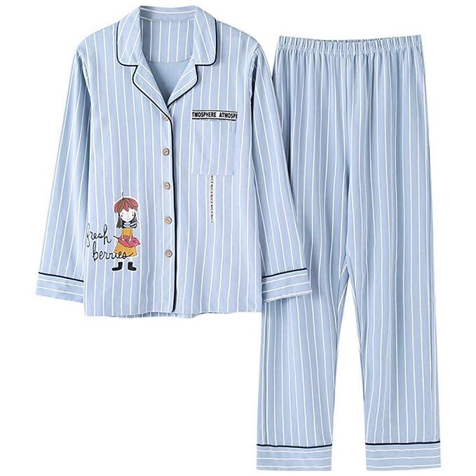 Mmllse Ropa Interior De Algodón para Mujeres Juegos De Pijamas De Estampado De Cardigan Pijamas Vestidor para Dormir Ropa De Noche De Moda Vestido Camisero ...