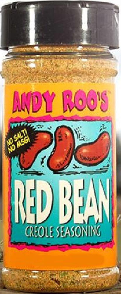 Andy Roo's Salt-Free Red Bean Creole Seasoning, 4 Ounce Shaker