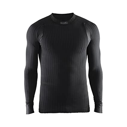 Craft Men's Active Extreme 2.0 Lightweight Long Sleeve Training Tee, Black,  Small