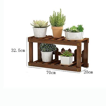 YXWa Puesto de Plantas Estantería de balcón con Flores en el ...